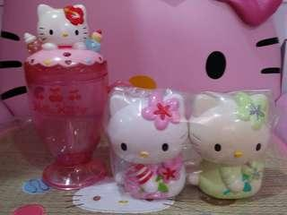 Kitty coin bank & cup set