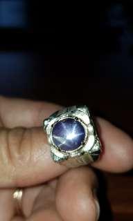 Purplish Blue Star Sapphire from Sri Lanka.