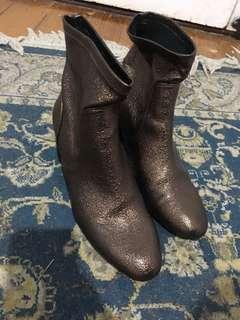 Zara metallic booties