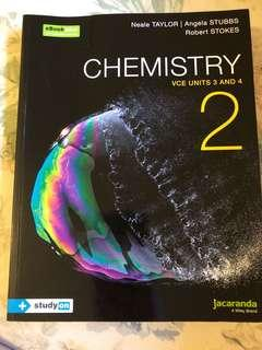 Jacaranda Units 3/4 Chemistry textbook
