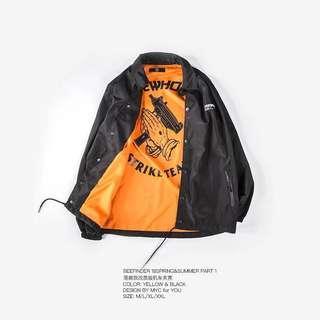 🚚 秋季飛行夾克男加厚寬鬆外套休閒學生機車教練風衣
