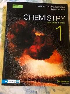 Jacaranda Units 1/2 Chemistry textbook