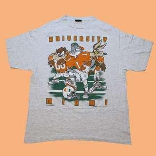 JCI:Vintage NCAA 密阿密大學隊 x 華納 短T 古著 / 90s / 嘻哈 / ASAP ROCKY