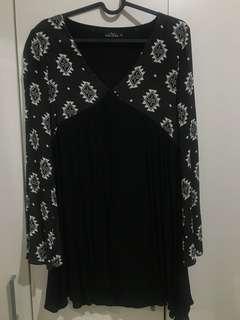 Zalora Dress/top hitam