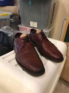Dr Marten maroon shoes