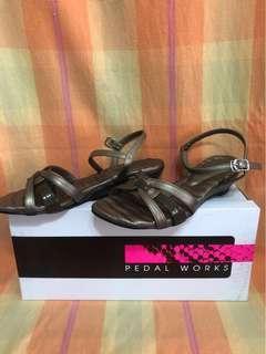 Pedal Works Ladies Low Heels Shoes (Grey) Size 3