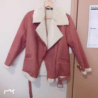 Blush lined cord jacket