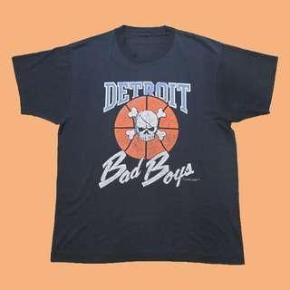 JCI:Vintage NBA 底特律活塞隊 壞男孩 短T 90s / 嘻哈古著 / BAD BOY / 羅德曼