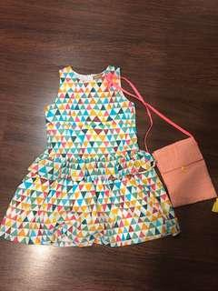 (4) New with tag girls' dress with bag