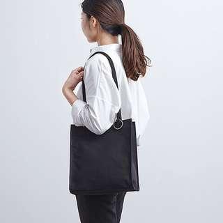 Black basic small tote