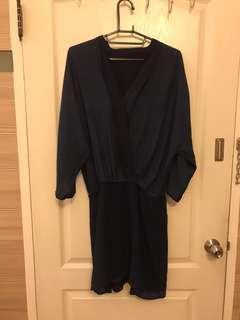深藍氣質洋裝