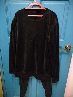 HnM velvet top and pants