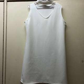 Neoprene White Shift Dress