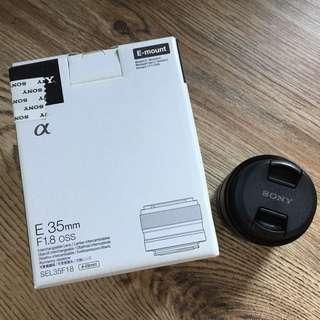 Sony E-Mount 35mm f1.8 OSS Lens (SEL35F18)