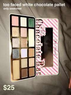 too faced white chocolate pallete