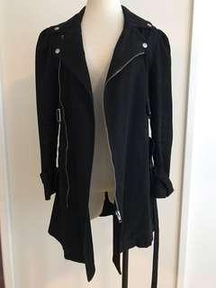 Black Double-Breasted Coat