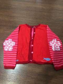 Pre-loved beautiful red jacket for girls size 4