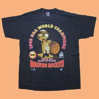 JCI:Vintage NBA 休士頓 火箭隊 冠軍紀念短T 90s / 嘻哈古著 / TRAVIS SCOTT