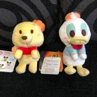 Japan Disney Donald and Pooh plush
