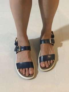 Charles & Keith Blue Sandals