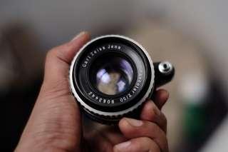 Lensa Carl Zeiss Pancolar 50mm F2 exakta bonus adapter Fujifilm bisa dipasang ke sony nikon canon olympus lumix bukan leica helios