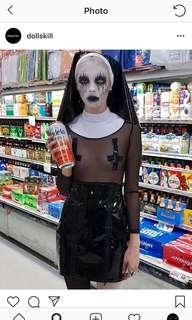 DOLLS KILL NUN OUTFIT SIZE SMALL . Worn once