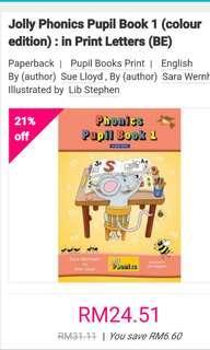 Jolly phonics pupils work book