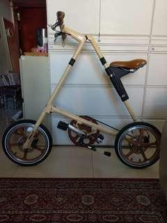 Strida Cream foldable bike