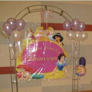 Metal decorative flower arch for balloons flower