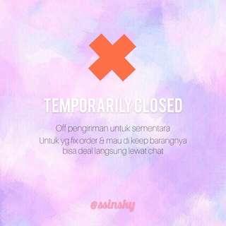 Close sementara 🙏🙏