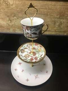porcelain 3 tier platter/ serving stand