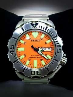 SEIKO Diver 7S26-0350 Orange Monster Automatic Men's Watch