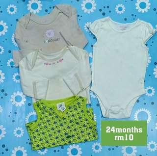 Baby Rompers set girl 24m