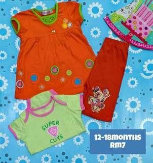 Baby girl set 12-18m