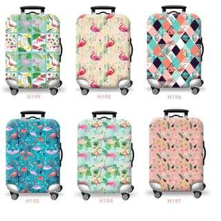 (Small) Flamingos Luggage Covers Thick Waterproof Suitcase Cover