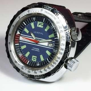 1970s Le Royal Special Diver's Tachymeter-World Time Mens Watch