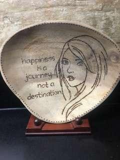 sinunog na kahoy/ decorative wooden plate