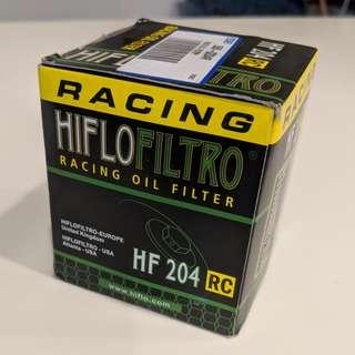3x Hiflo HF204RC Oil filter for most HONDA, Kawasaki, Yamaha and Triumph bikes
