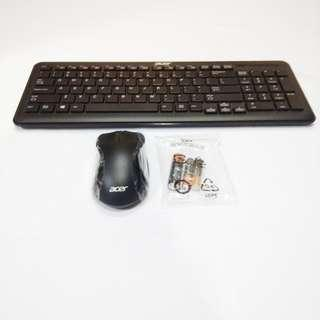 Acer Wireless Keyboard and Wireless Mouse Combo