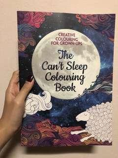 The Can't Sleep Grown Ups Colouring Book