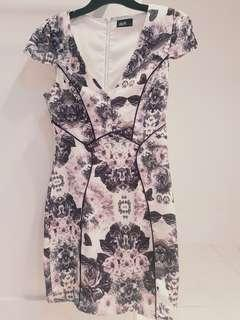 Floral pink/grey Dotti dress