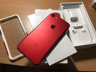 iphone7  128G紅、無傷功能正常