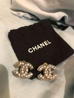 Crystal Chanel Earrings