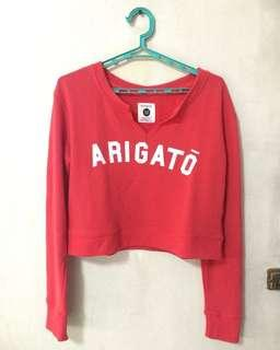 """Cotton On: Red """"Arigatou"""" Top"""