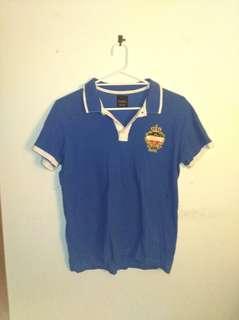 Zara Paris polo shirt blue