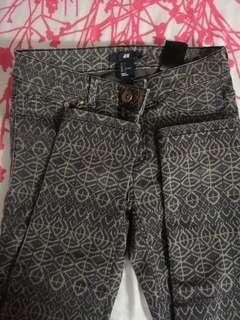 H&M Tribal Skinny Pants
