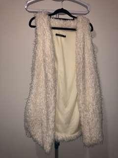 Fluffy white jacket