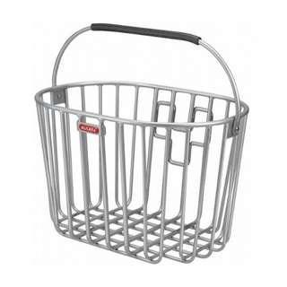 Alumino handlebar bicycle basket