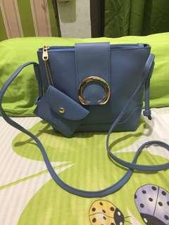 Korean Sling Bag light blue
