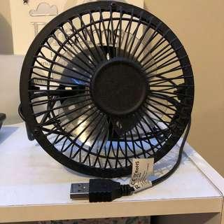 USB charged desk Fan